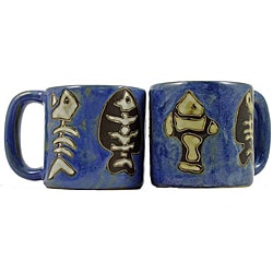 Set of 2 Mara Stoneware 16-oz Fossil Mugs (Mexico)