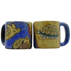 Set of 2 Mara Stoneware 16-oz Turtles Mugs (Mexico)