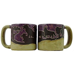 Set of 2 Mara Stoneware 16-oz Wolves Mugs (Mexico)