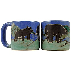 Set of 2 Mara Stoneware 16-oz Bears Mugs (Mexico)