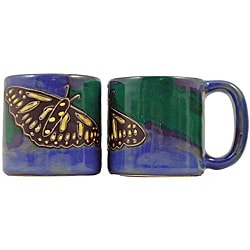 Set of 2 Mara Stoneware 16-oz Butterfly Mugs (Mexico)