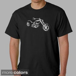 Los Angeles Pop Art Men's 'Motorcycle' Shirt