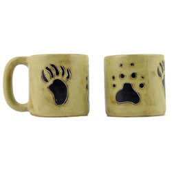Set of 2 Mara Stoneware 16-oz Bear/ Wolf Paw Mugs (Mexico)