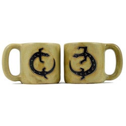 Set of 2 Mara Stoneware 16-oz Gecko Mugs (Mexico)