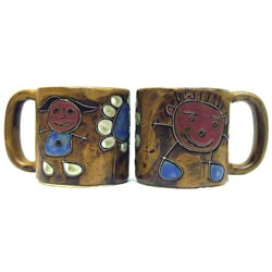 Set of 2 Mara Stoneware 16-oz Children Mugs (Mexico)