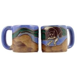 Set of 2 Mara Stoneware 16-oz Grizzly Bear Mugs (Mexico)