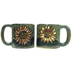 Set of 2 Mara Stoneware 16-oz Sunflower Mugs (Mexico)