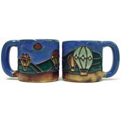 Set of 2 Mara Stoneware 16-oz Air Balloons Mugs (Mexico)