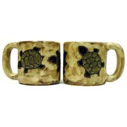 Set of 2 Mara Stoneware 16-oz Desert Turtle Mugs (Mexico)