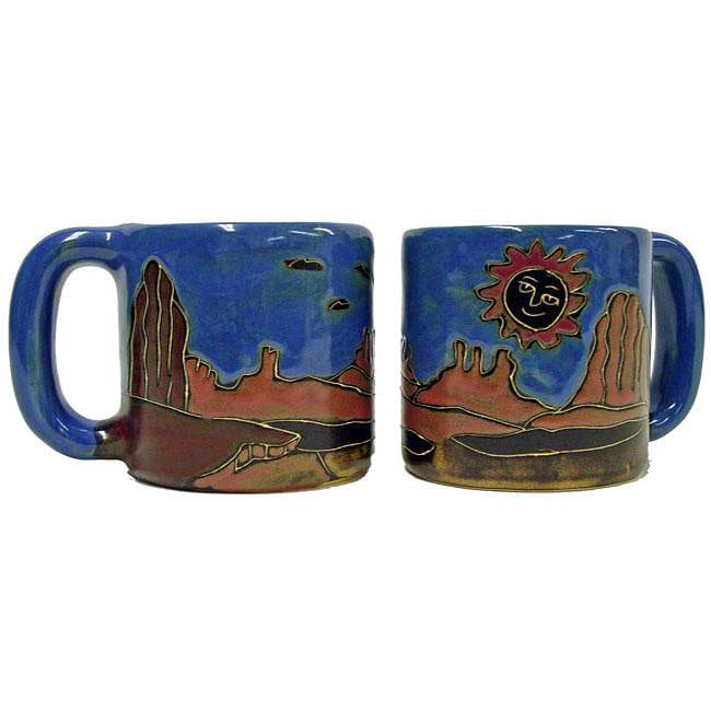 Set of 2 Mara Stoneware 16-oz Red Rock Mugs (Mexico)