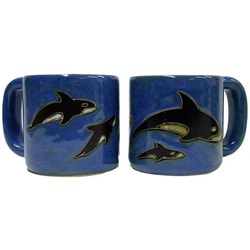 Set of 2 Mara Stoneware 16-oz Orcas Mugs (Mexico)