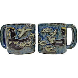 Set of 2 Mara Stoneware 16-oz La Paz Doves Mugs (Mexico)