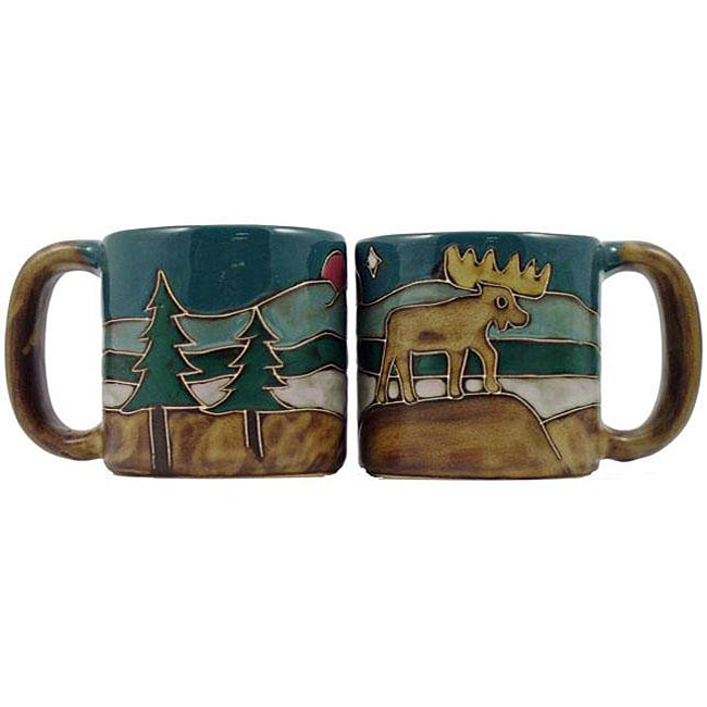 Set of 2 Mara Stoneware 16-oz Moose Mugs (Mexico)