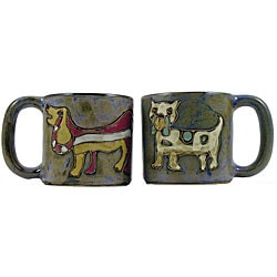 Set of 2 Mara Stoneware 16-oz Dogs Mugs (Mexico)