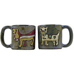 Set of 2 Mara Stoneware 16-oz Dogs Mugs (Mexico)