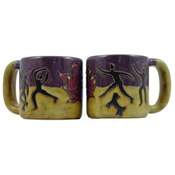 Set of 2 Mara Stoneware 16-oz Dancer Mugs (Mexico)