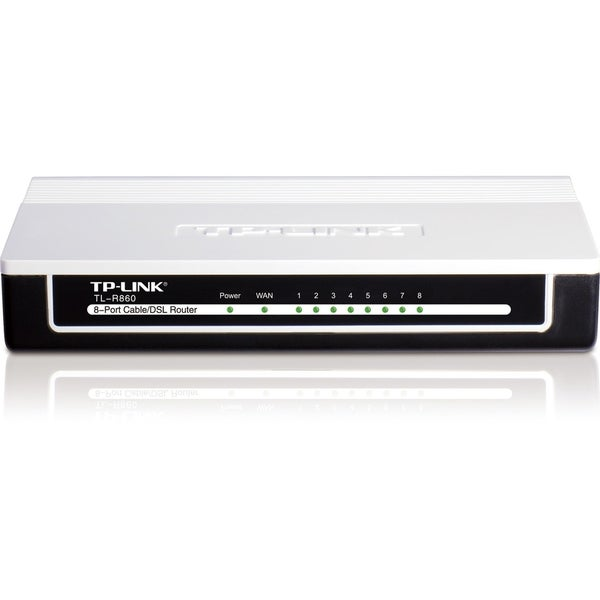 TP-LINK TL-R860 Advanced 8-Port Cable/DSL Router, 1 WAN Port, 8 LAN P