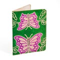 Leather Green Butterfly Passport Cover (India)