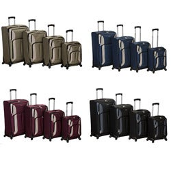 Rockland Polo Equipment 4-piece Luggage Set
