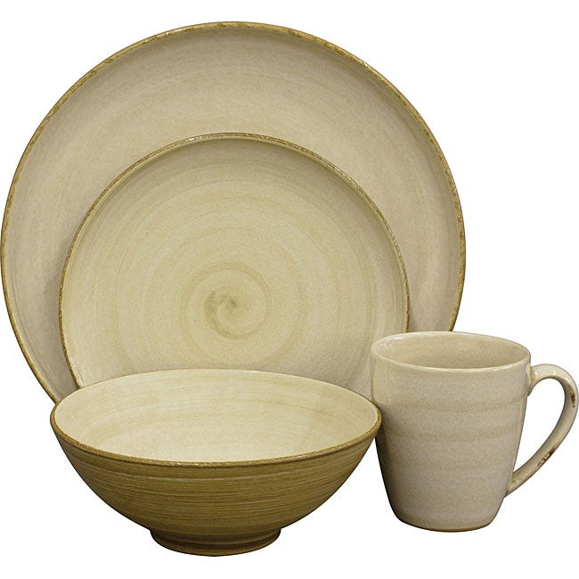 Sango Patio Cream 16-piece Dinnerware Set