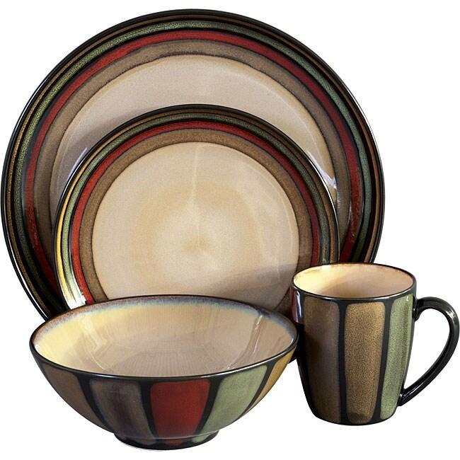Sango Flair Black 16-piece Dinnerware Set