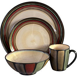 Sango Flair Black 16-piece Dinnerware Set