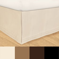 Grand Luxe 'Hike Up Your Skirt' Matte Satin Adjustable 17-Inch Drop Queen-size Bedskirt