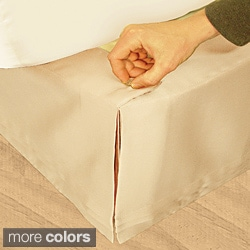 Grand Luxe 'Hike Up Your Skirt' Matte Satin Adjustable 17-inch Drop King-size Bedskirt