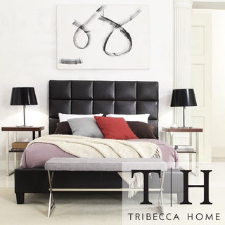 TRIBECCA HOME Sarajevo Dark Brown Tufted Upholstered Full-size Bed