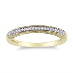 Miadora 14k Yellow Gold Diamond Accent Wedding Band