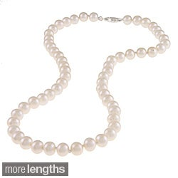 M by Miadora White 6.5-7mm Cultured Freshwater Pearl Necklace (16-18 inch)