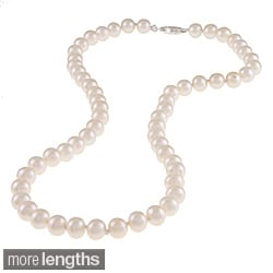 Miadora White 6.5-7mm Freshwater Pearl Necklace (16-18 inch)