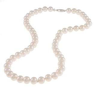 M by Miadora White 6.5-7mm Freshwater Pearl Necklace (16-18 inch)