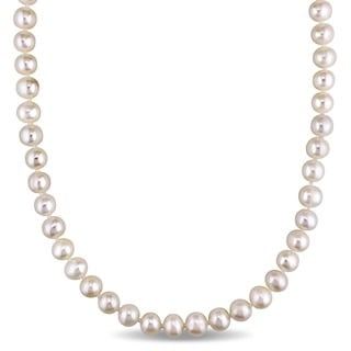 White Cultured Freshwater Pearl Endless 36-inch Necklace (7.5-8 mm)
