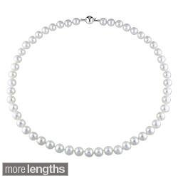 Miadora White 8-9mm Freshwater Pearl Necklace (16-24 inch)