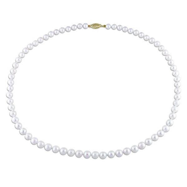 Miadora White 5.5-6mm Cultured Akoya Pearl Necklace (18-30 inches)