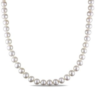 M by Miadora White 7-7.5mm Cultured Freshwater Pearl Necklace (16-24 inch)