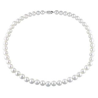 M by Miadora White 7.5-8mm Freshwater Pearl Necklace (18-24 inch)