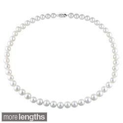 Miadora White 7.5-8mm Freshwater Pearl Necklace (18-24 inch)