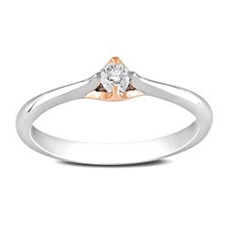 Miadora 10k Two-tone Gold 1/10ct TDW Diamond Solitaire Ring (G-H, I2-I3)
