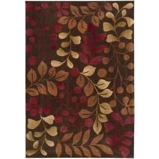Nourison Hand-tufted Contours Chocolate Rug (3'6 x 5'6)