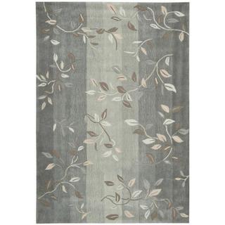 Nourison Hand-tufted Contours Aqua/Grey Stone Rug (7'3 x 9'3)
