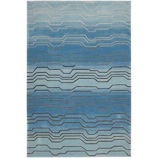 Nourison Hand-tufted Contours Azure Rug (7'3 x 9'3)