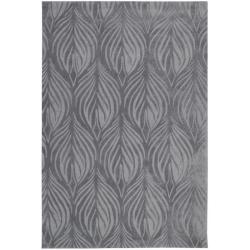 "Nourison Hand-Tufted Contours Transitional Slate Rug (8' x 10'6"")"