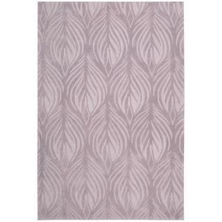 Nourison Hand-tufted Contours Lavender Rug (7'3 x 9'3)