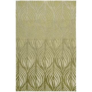Nourison Hand-tufted Contours Green Rug (5' x 7'6)