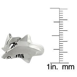 Tressa Sterling Silver Shark Ring