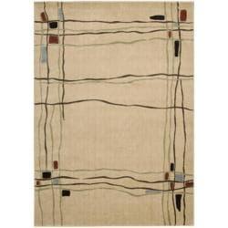 Nourison Monaco Ivory Abstract Rug (5'3 x 7'5)