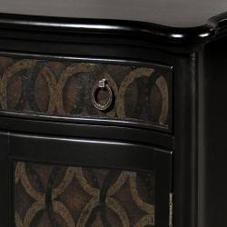 Hand-painted Black Accent Chest