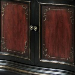 Hand-painted Black/ Red Accent Chest